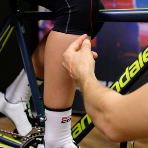 Lazer to check knee position