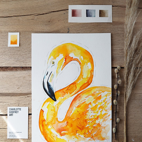 Yellow Flamingo (A4)