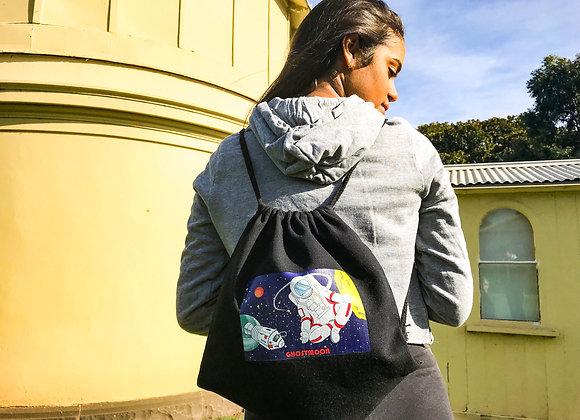 Drawstring Backpack- Meditating Astronaut