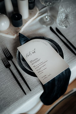 Those Who Wander Design Menu, La Moment Photography & Events By Aimie Collaboration
