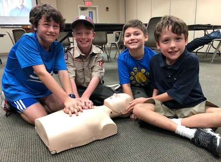 Webelos Lead the way on first responder capability- hearTSaver first aid and CPR Aed
