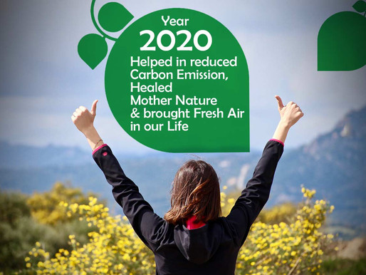 Year 2020 helped in reduced Carbon Emission, Healed Mother Nature & brought Fresh Air in our Life