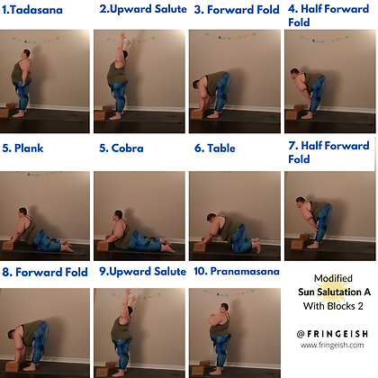 Modified Sun Salutation A With Blocks (1
