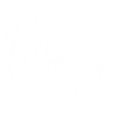 Logo Manns Cookies White with cookie outline