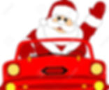 4843043-santa-claus-in-a-red-car-Stock-V