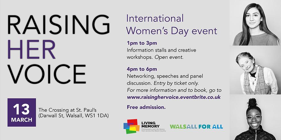 Raising Her Voice - International Women's Day Event