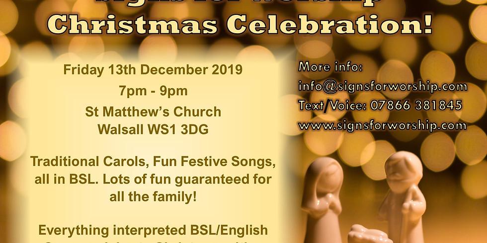 Signs for Worship Christmas Celebration