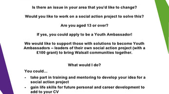 Youth Ambassadors - a letter to the young people from The National Youth Agency