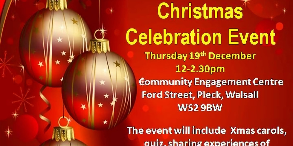 Our World Women's Group Christmas Celebration Event - Walsall BME Advice Centre