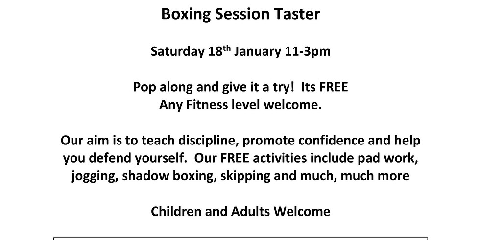 Boxing Taster Session (by Manor Farm Community Association)