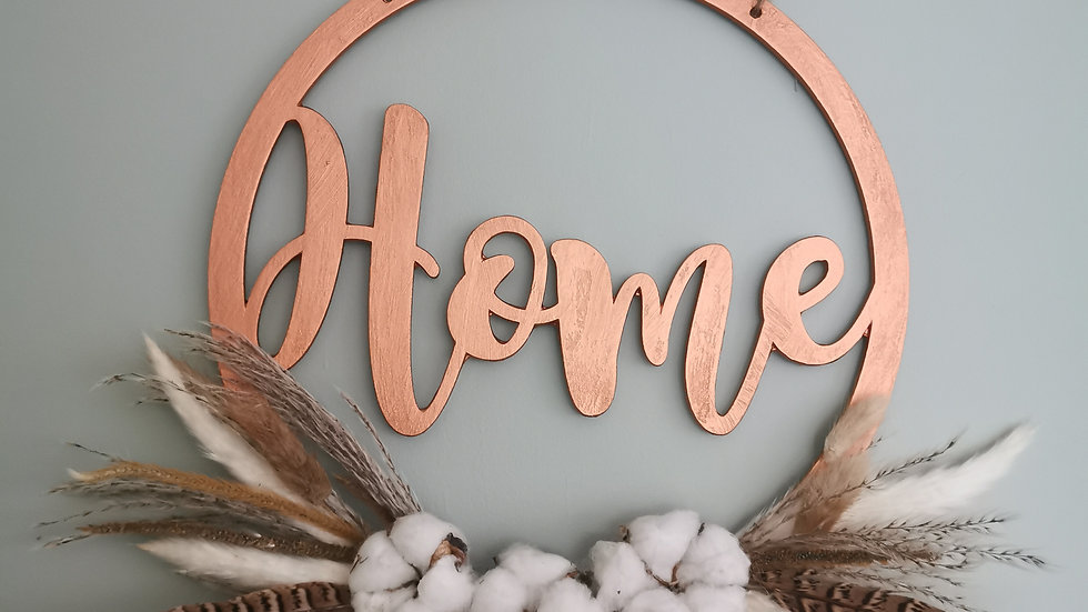 Floral Wooden Hoop, wreath, home, flowers, flower hanging hoop, pheasant feather