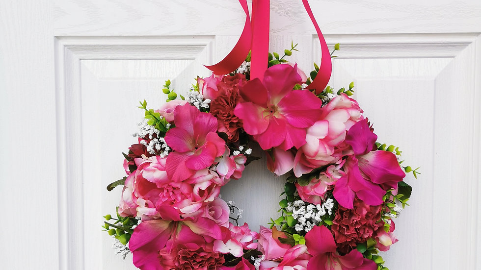 Spring Floral Wreath, Spring Wreath, Spring Swag, Floral Wreath, Summer Wreath,
