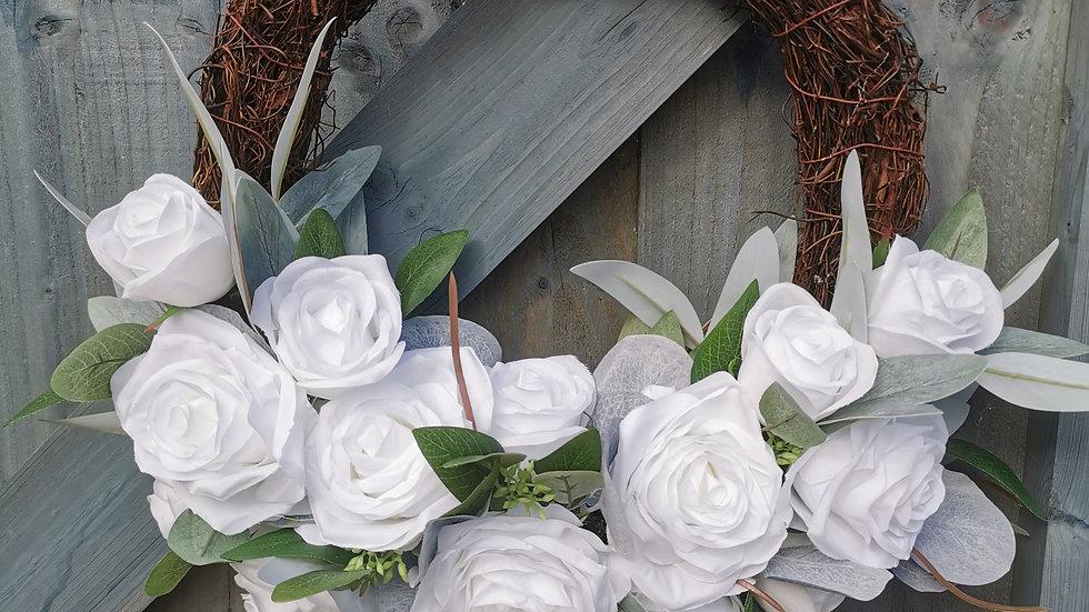 Half Floral Wreath, Spring Wreath, Spring Swag, Floral Wreath, Summer Wreath