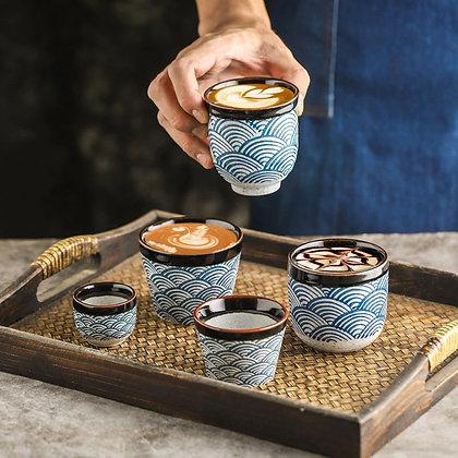 Ceramic Coffee Cup Porcelain Tea Cups Big Capacity Coffee shop mug 80-200ml