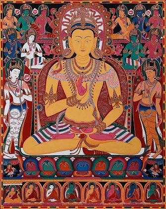 The Buddha Amoghasiddhi, Surrounded By The Dhyani Buddhas (Tibetan Buddhist Broc