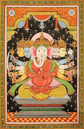 A Fine Tantric Form of Shri Ganesha