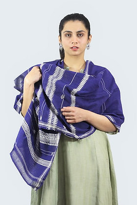 Organic Dyed Blue Kotpad Pure Cotton Stole