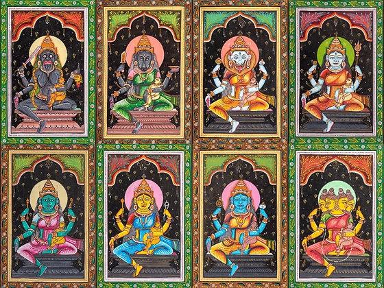 Ashta Matrikas (Set of Eight Paintings)