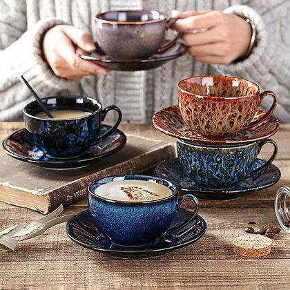 Ceramic coffee cup set Travel Cup latte Milk tea mug