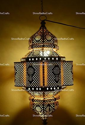 Modern Turkish Hanging Lights Oriental Arabian Lantern Golden Moroccan Lamps