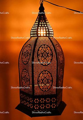 Golden Light Chandelier Candle Holder Black Moroccan Lamp Vintage Home Decor