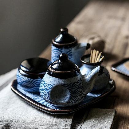 Household kitchen supplies salt shaker/Ceramics seasoning jar olive oil bottle
