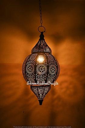 Modern Moroccan Turkish Vintage Lamps Black/Golden Ceiling Fixture Lights