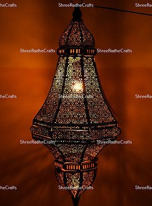 Modern Turkish Lantern Oriental Arabian Lamp Golden Moroccan Lamps