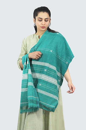Organic Dyed Green Kotpad Pure Cotton Stole