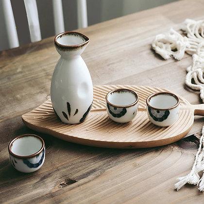 Japanese ceramic wine set Hotel restaurant small wine set Bar tool Sake flagon