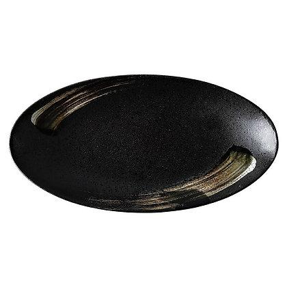 Japanese oval ceramic plate Fish plate Sushi plate Steak dish