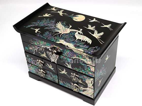 Nacre Mother of Pearl Inlaid Jewelry Box