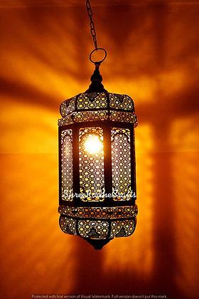 Modern Turkish Metal Lantern Lamp Vintage Antique Look Moroccan Ceiling Lights