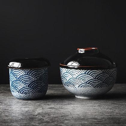 Ceramic bowl Soup cup Noodle bowl Steamed egg Stew cup Kitchen supplies Dessert
