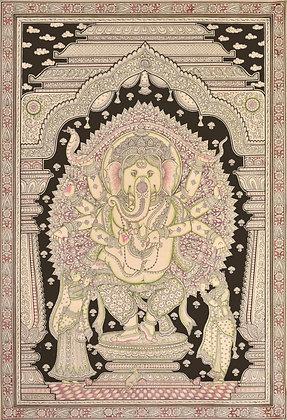 Nritya Lord Ganesha In His Heavenly Abode