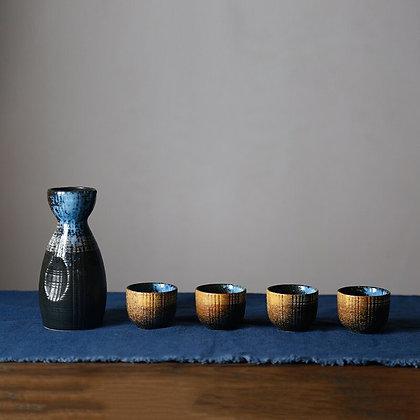 Japanese Style Sake Wine Warm Chinese Wine Set Home Ceramic Sake Wine Set