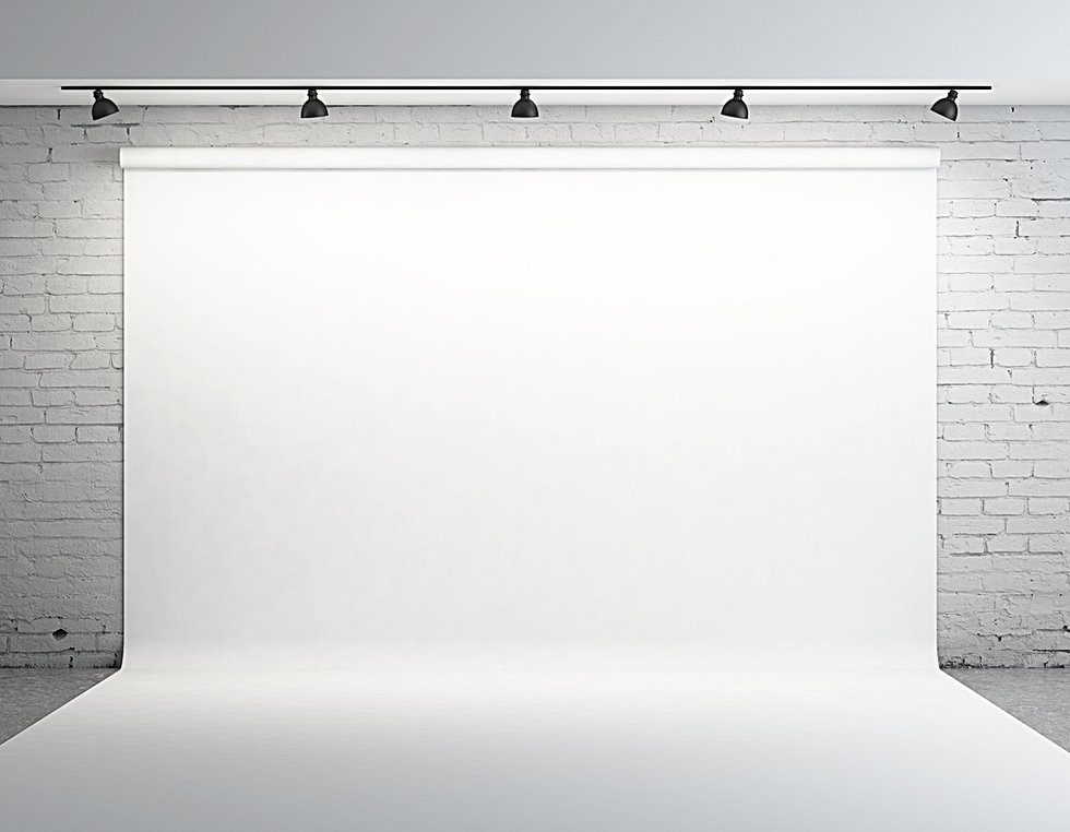 White backdrop in room with grey paint o