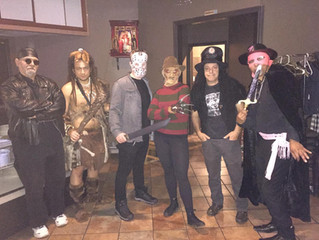Solstyce gang at halloween party