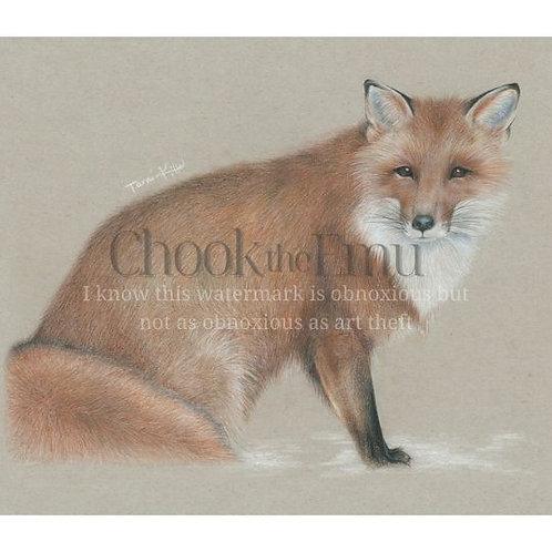 """Fox in Snow"" - Wall art print"