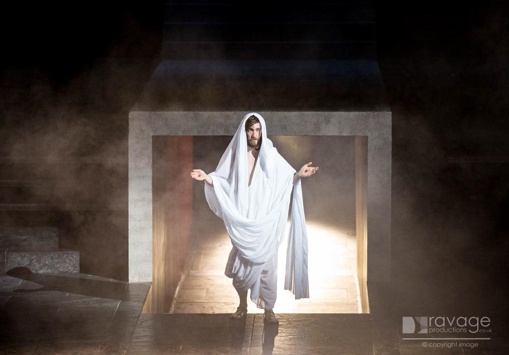 Jesus emerges