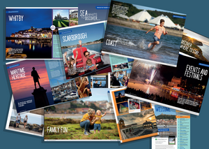 Pages from tourism brochures photography by Duncan Lomax