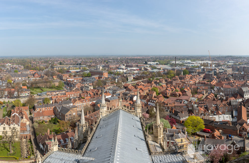 View from the tower at York Minster