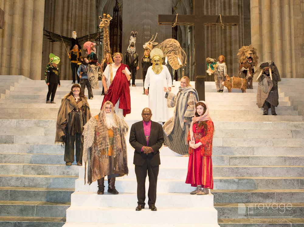 Archbishop Sentamu and cast