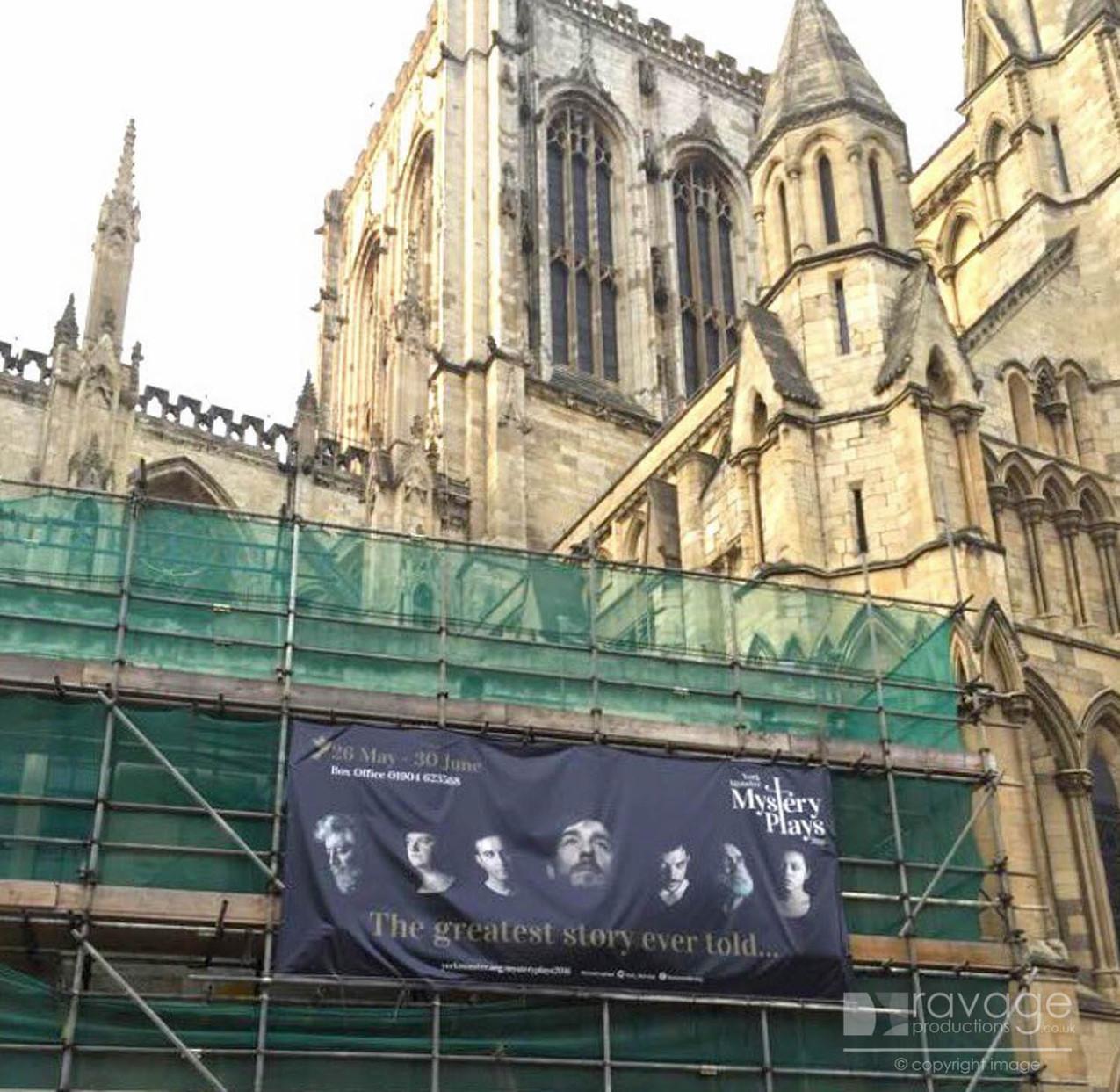 Banner on the Minster
