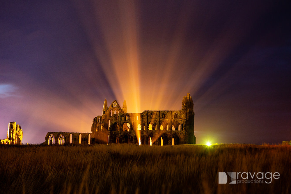 Whitby Abbey at night © Duncan Lomax Ravage Productions