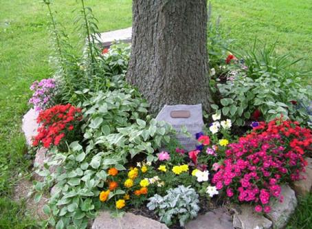 Creating a memorial garden