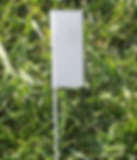 metal garden markers for plants