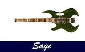 Gaskell left handed headless guitar