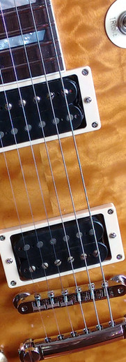Gaskell left handed LP style guitar