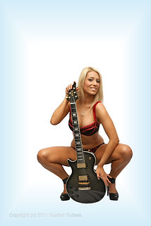Left handed Les Paul style
